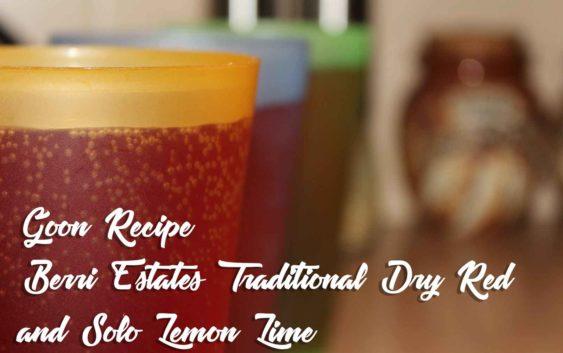 Berri Estates Traditional Dry Red and Solo – Lemon Lime    Goon Recipe