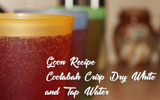 Coolabah Crisp Dry White and Tap Water   Goon Recipe