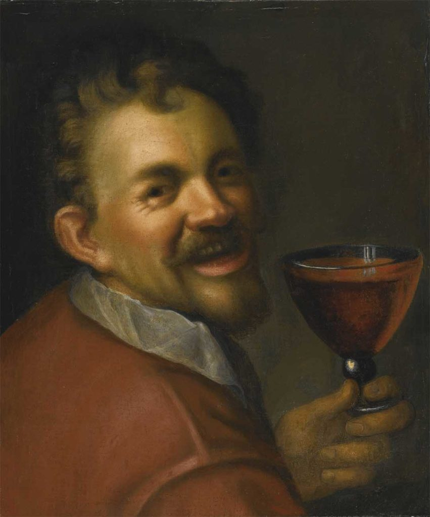 Hans_von_Aachen_Self-portrait_with_a_Glass_of_Wine_Berri_Estates_Traditional_Dry_Red_and_Solo_Lemon_Lime_Goon_Recipe copy