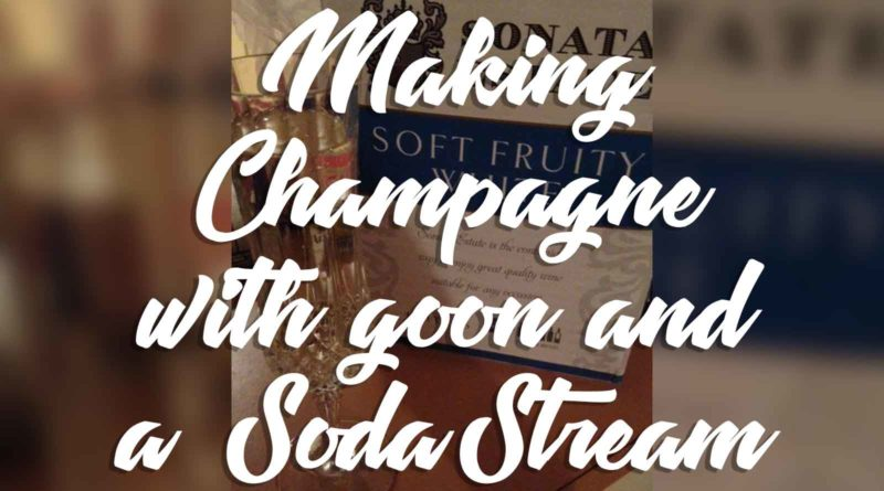 Can-you-make-SodaStream-Champagne-from-Goon-Cask-Wine?
